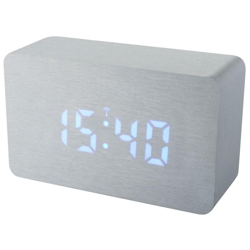 Statie meteo Bresser MyTime W RC, termometru, alarma, LED albastru, Argintiu 2021 shopu.ro
