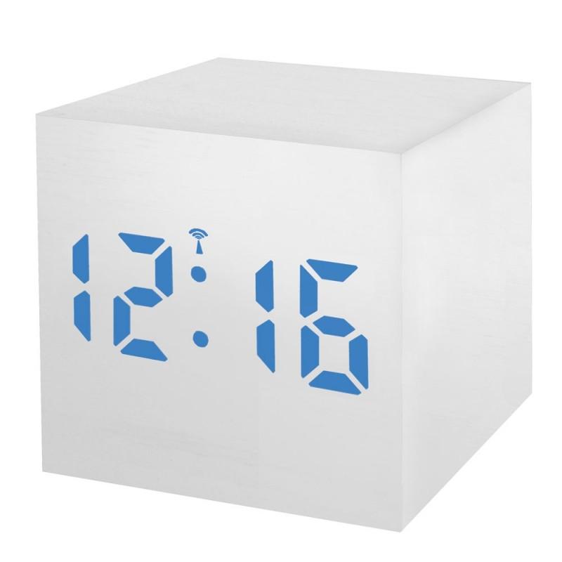 Statie meteo Bresser MyTime WAC RC, termometru, alarma, LED albastru, Alb 2021 shopu.ro