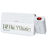 Statie meteo cu proiector Bresser MyTime, termometru, alarma, Alb