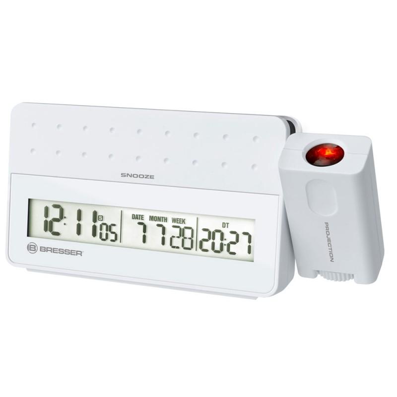 Statie meteo cu proiector Bresser MyTime, termometru, alarma, Alb 2021 shopu.ro