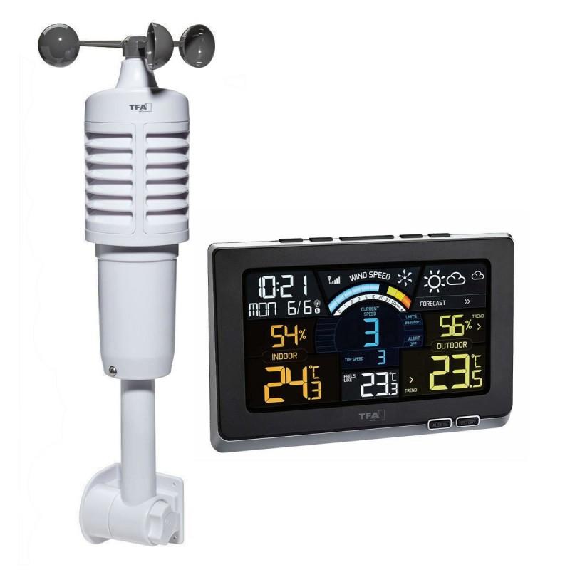 Statie meteo digitala Spring Breeze TFA, senzor extern wireless de temperatura, umiditate, viteza vant 2021 shopu.ro