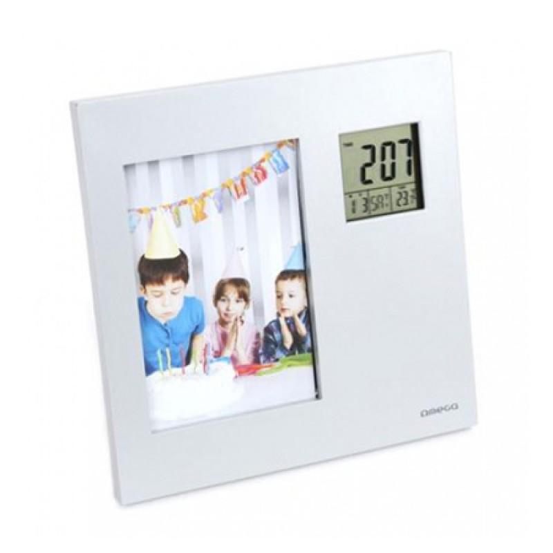 Termometru Omega OWSPF01 cu rama foto digitala, pentru interior 2021 shopu.ro