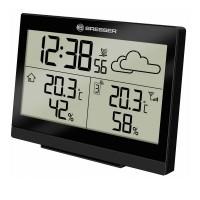 Statie meteo Temeotrend LG Bresser, functie alarma, afisare temperatura/prognoza/umiditate, Negru