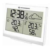 Statie meteo Temeotrend LG Bresser, afiseaza temperatura/prognoza/umiditate, Alb