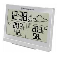 Statie meteo Temeotrend LG Bresser, afisare temperatura/prognoza/umiditate, Argintiu