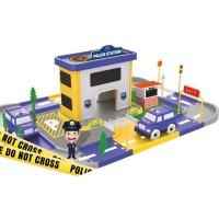Statie de politie Ucar Toys, 46 piese, 3 masinute incluse
