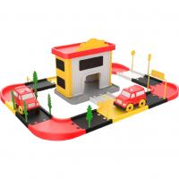 Statie de pompieri Ucar Toys, 46 piese, 3 masinute incluse