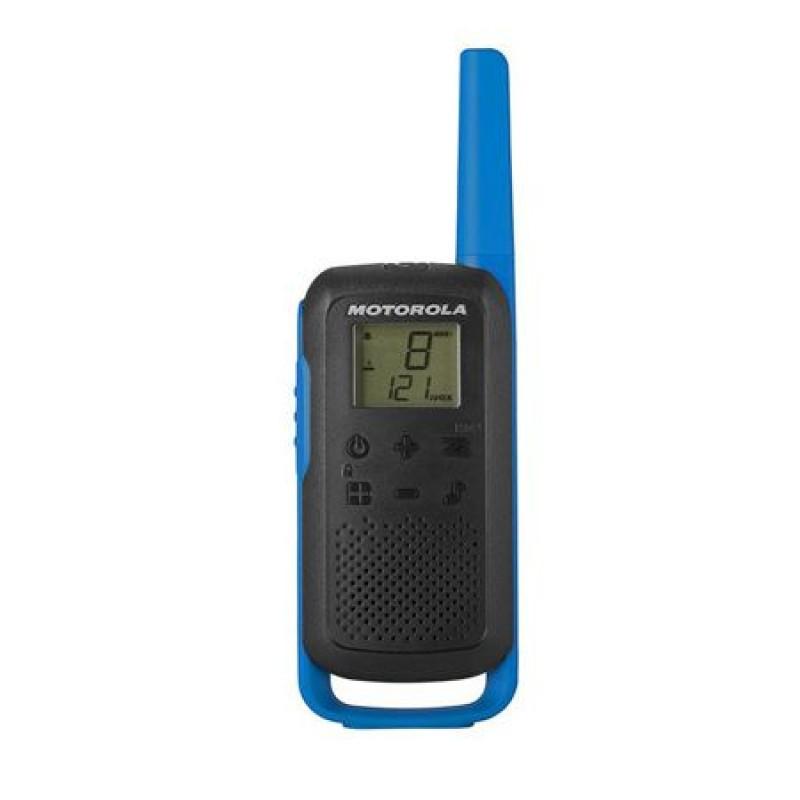 Statie radio PMR Motorola T62, 16 canale, 800 mAh, Albastru/Negru 2021 shopu.ro