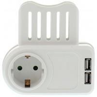 Stecher Schuko Well, 2 x 1.05 A, USB, suport telefon