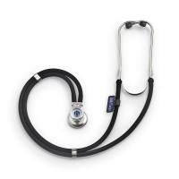 Stetoscop Little Doctor LD Special, 2 tuburi, tub 56 cm, inel cauciucat, Negru/Argintiu