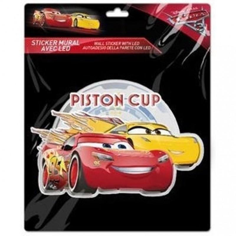 Sticker de perete cu led Cars Piston Cup SunCity, 20 x 20 cm 2021 shopu.ro