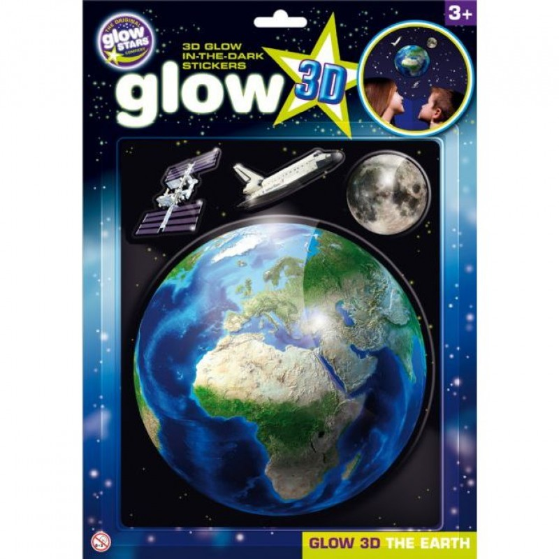 Stickere 3D - Planeta Pamant The Original Glowstars Company, Multicolor