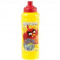 Sticla apa plastic Angry Birds Lulabi, 420 ml, Galben/Rosu