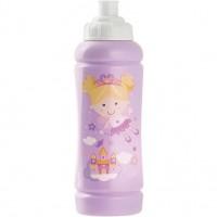 Sticla apa plastic Fairy Tales Lulabi, 420 ml, Roz