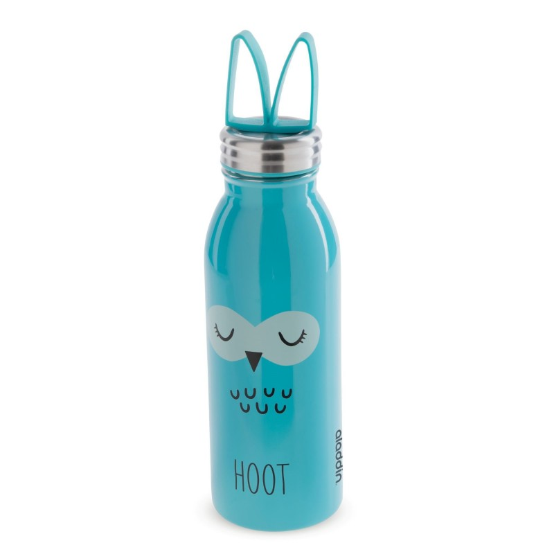 Sticla apa Zoo Aladdin, 430 ml, pereti dublii, inox, model bufnita 2021 shopu.ro