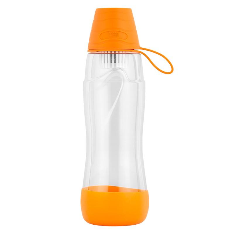Sticla pentru filtrare apa Teesa, 550 ml, tritan/polipropilena, filtru carbon activ, Portocaliu 2021 shopu.ro