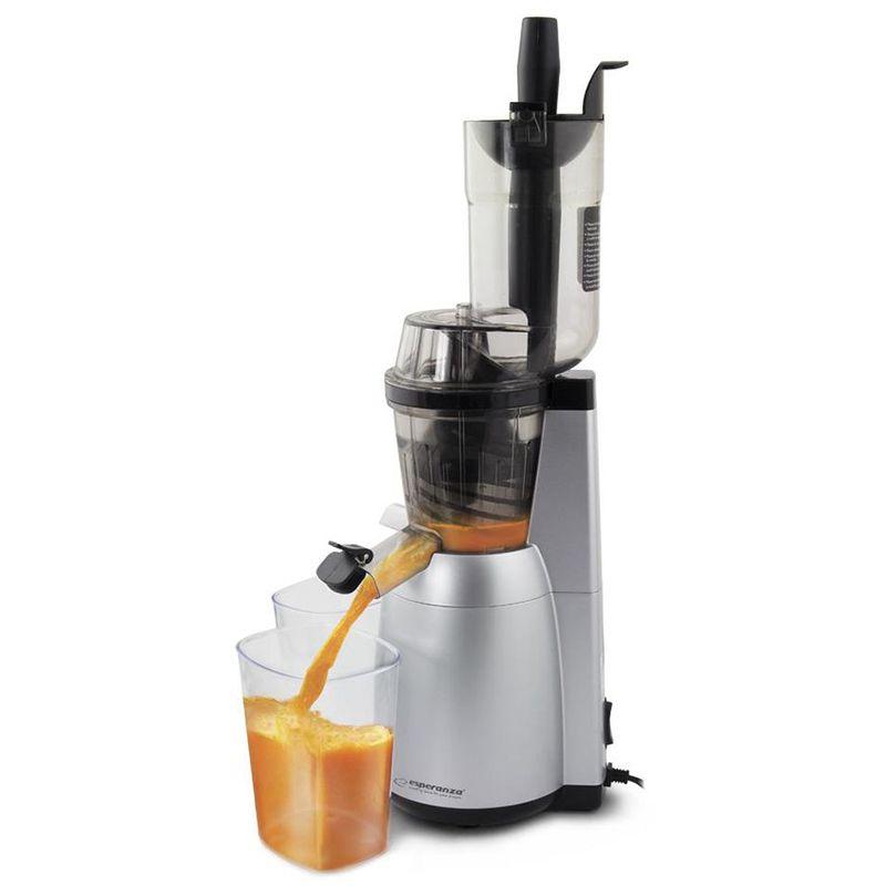 Storcator de fructe Slow Juicer Mela Esperanza, 2 recipiente colectare 600 ml, 60 rpm, 150 W 2021 shopu.ro