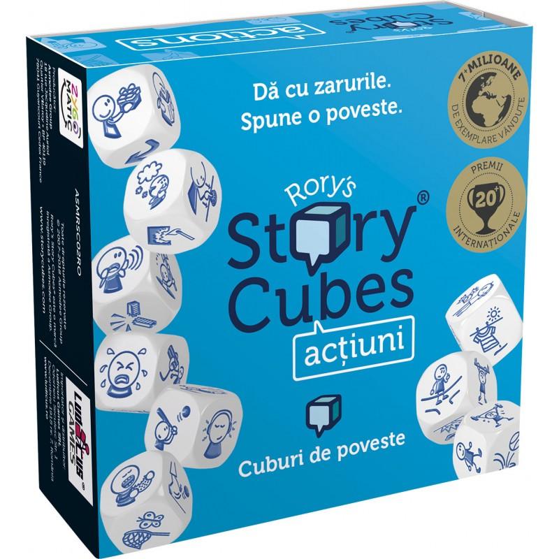 Joc de societate Story Cubes Actiuni, 2-99 jucatori, 6 ani+ 2021 shopu.ro