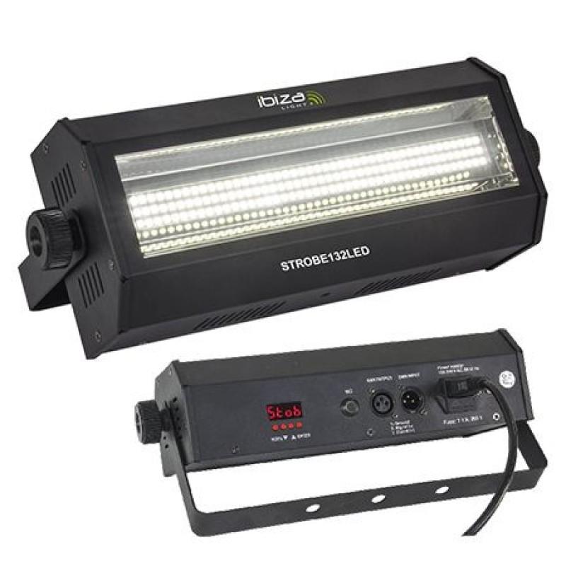 Stroboscop Strobe, 60 W, 132 x LED, SMD DMX, 7 efecte, 2 canale