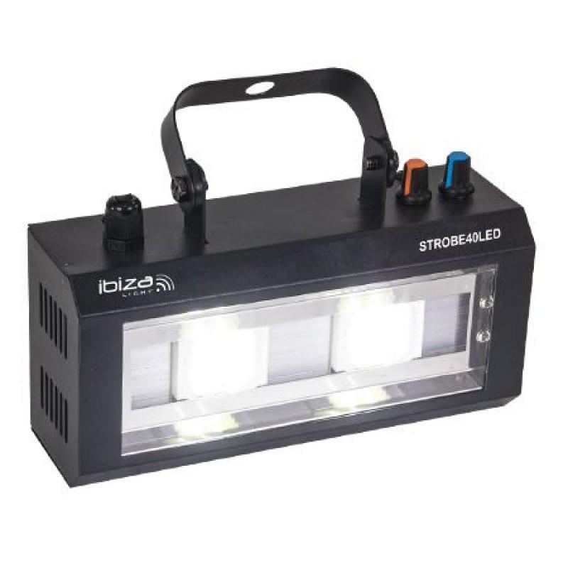 Stroboscop LED, 2 x 20 W, viteza reglabila pentru declansare blit