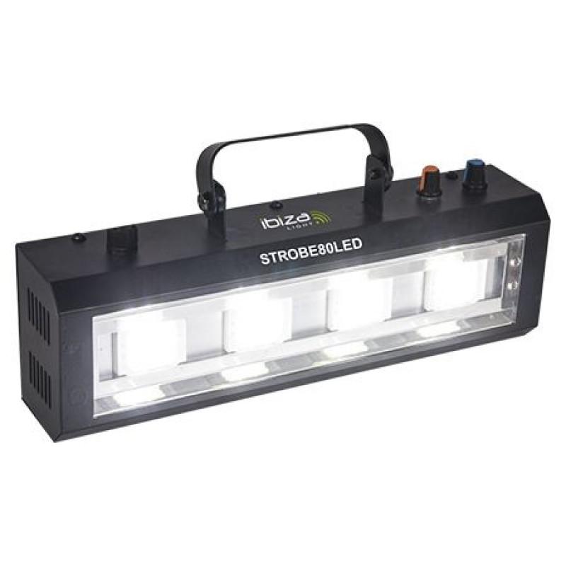 Stroboscop LED, viteza reglabila, 4 x 20 W 2021 shopu.ro