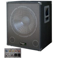 Subwoofer activ 18 inch, 2 intrari linie, 1 intrare microfon, 1200 W