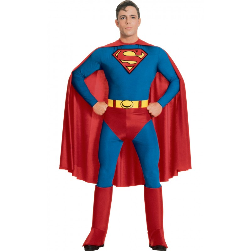 Costum pentru baieti Superman, varsta 5-6 ani, marime M 2021 shopu.ro