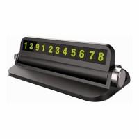 Suport afisaj numar telefon Siegbert, 13 x 4 x 6 cm, suport telefon, Negru