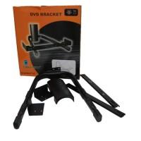 Suport de perete pentru DVD/receptor satelit, suporta maxim 25 kg, Negru