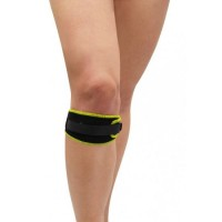 Suport pentru genunchi patella DHS, neopren, inchidere velcro, Negru/Verde