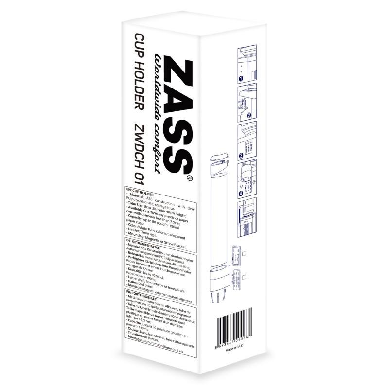 Suport pahare pentru dozator Zass, 40 x 8 cm, ABS