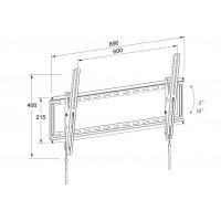 Suport TV LCD de perete Well, diagonala 32 - 80 inch, inclinabil