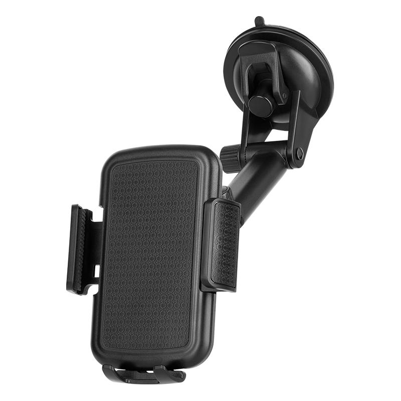 Suport auto pentru telefon Kruger & Matz, 140-180 mm, brate laterale reglabile, Negru 2021 shopu.ro