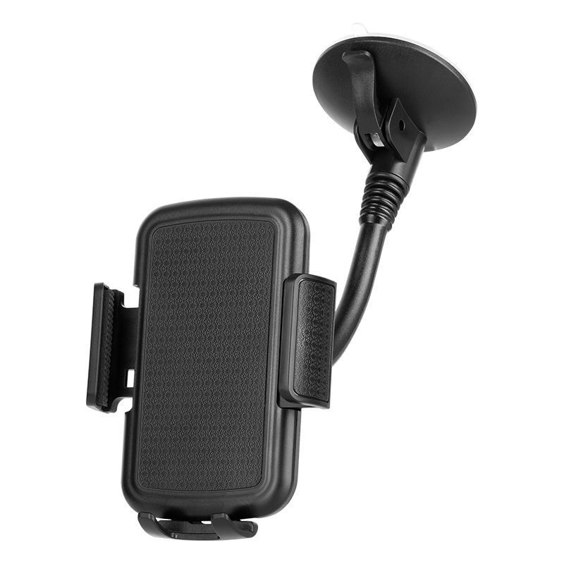 Suport auto pentru telefon Kruger & Matz, 200 mm, brate laterale reglabile, Negru 2021 shopu.ro