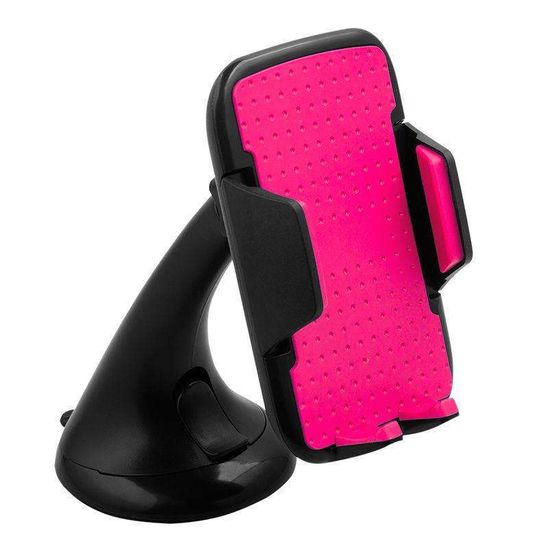 Suport Auto M-Life pentru Telefon, universal, prindere ventuza, rosu 2021 shopu.ro