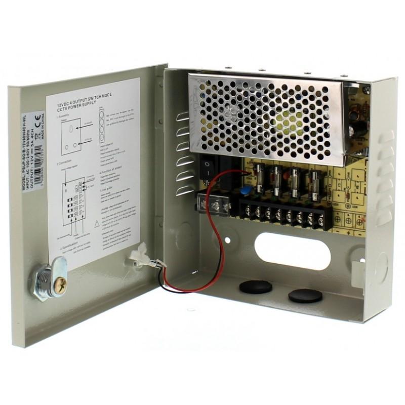 Sursa in comutatie AC-DC Well, 60 W, 12 V, 5.0 A, 4 canale 2021 shopu.ro