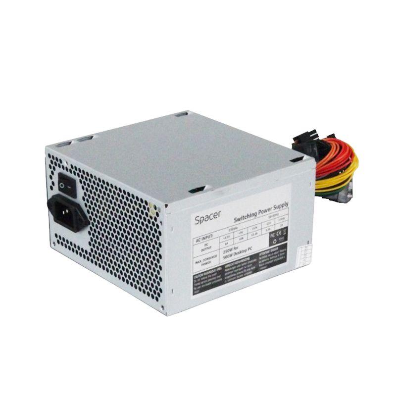 Sursa PC Spacer, 500 W, ventilator 1 x 120 mm, 2 x SATA, 1 x FDD 2021 shopu.ro