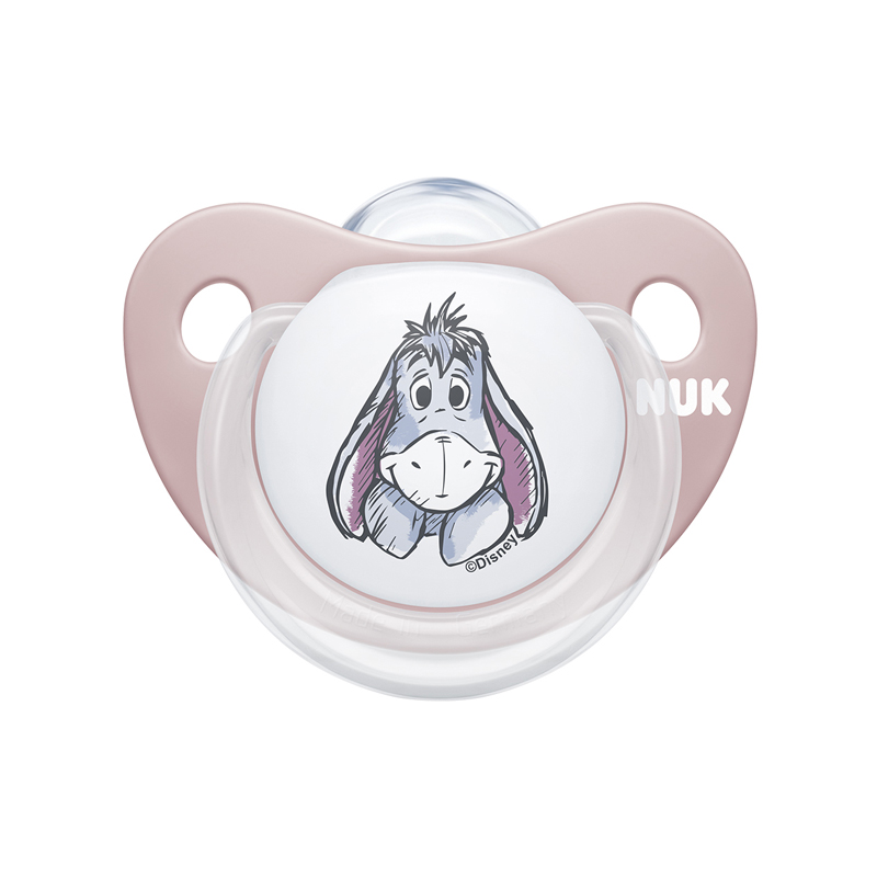 Suzeta Disney M2 Nuk, silicon, varf plat, 6-18 luni, model Winnie, Roz 2021 shopu.ro