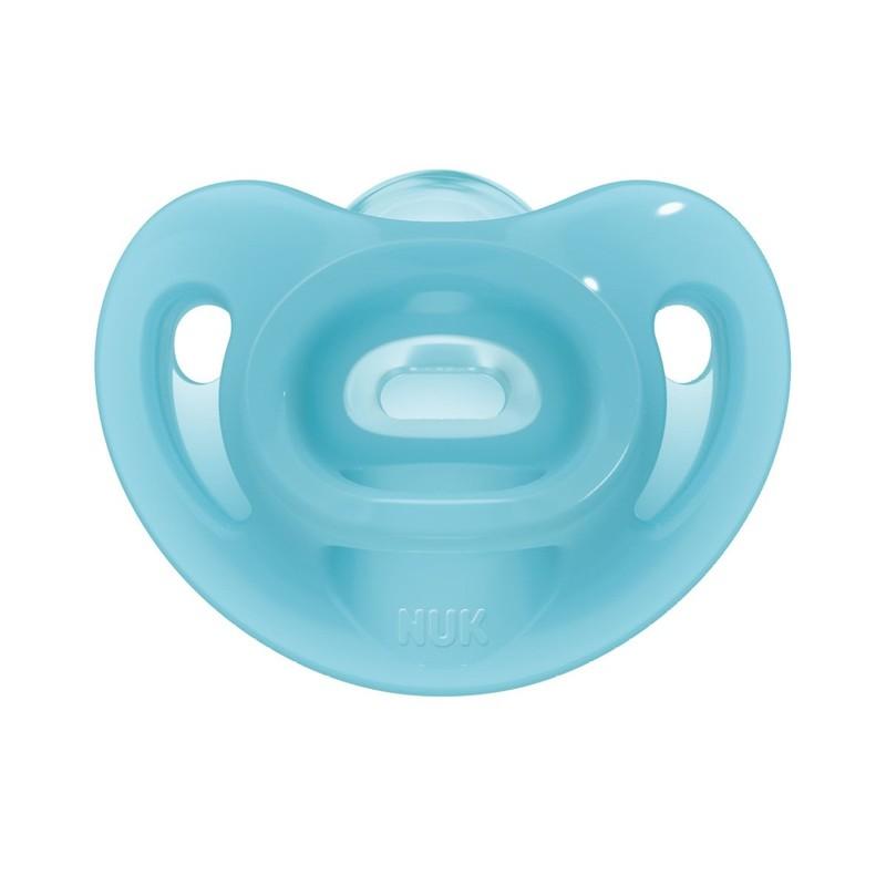 Suzeta Sensitive Nuk, silicon, cutie inclusa, 6-18 luni, Albastru 2021 shopu.ro