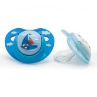 Suzete ortodontice Vital Baby, 2 bucati, model pentru baieti, 0 luni+