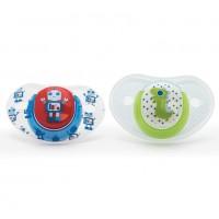 Suzete ortodontice Vital Baby, 2 bucati, model pentru baieti, 6 luni+