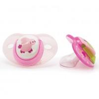 Suzete ortodontice Vital Baby, 2 bucati, model pentru fete, 6 luni+