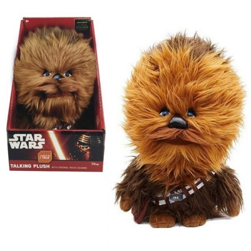 Mascota de plus Chewbacca, 22 cm, sunete 2021 shopu.ro