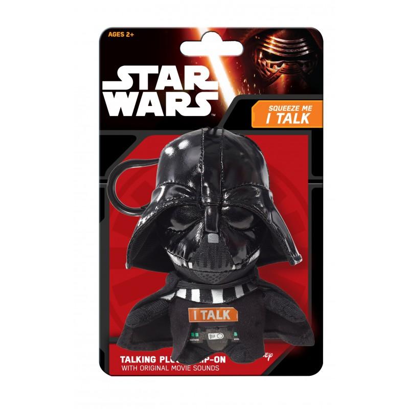 Mini mascota de plus Star Wars Darth Vader, 12 cm, sunete 2021 shopu.ro