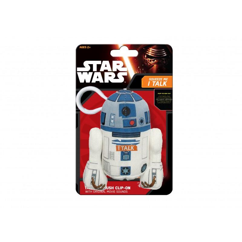 Mini mascota de plus Star Wars R2D2, 12 cm, sunete 2021 shopu.ro