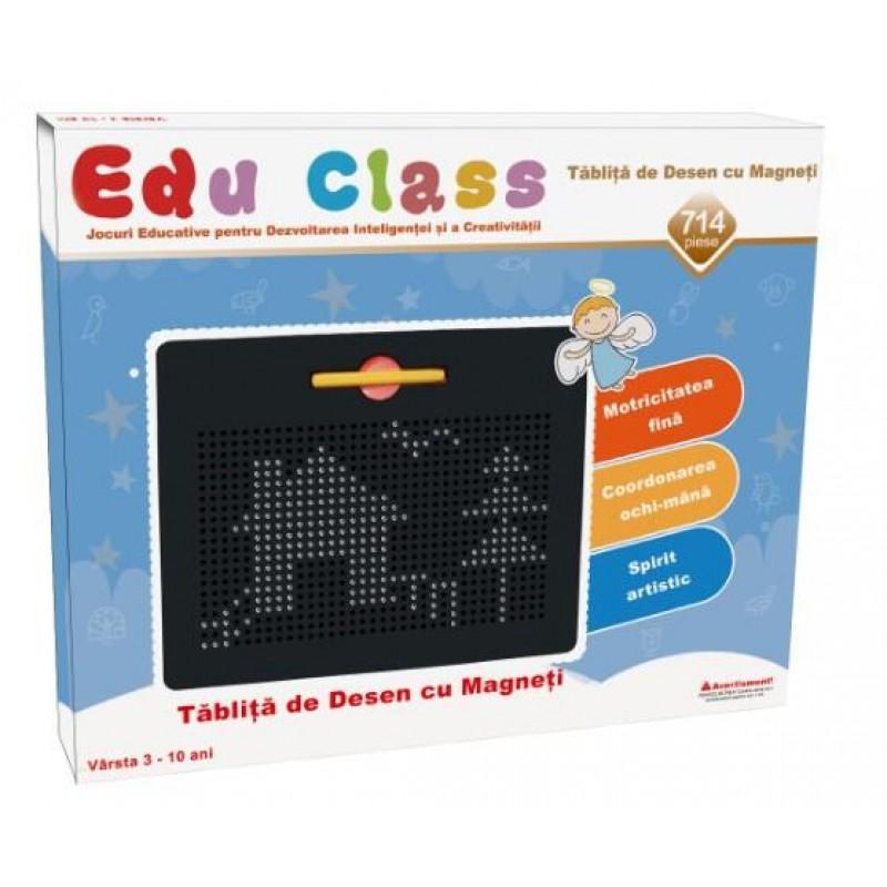 Tablita de desen cu magneti Edu Class, 714 piese, 3 ani+ 2021 shopu.ro