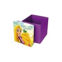 Taburet pliabil cu spatiu de depozitare Rapunzel SunCity, 31 x 31 x 33 cm