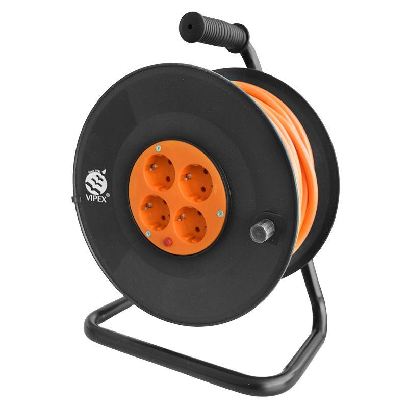 Prelungitor electric tip tambur, 4 prize, 3 x 1.5 mm, 20 m