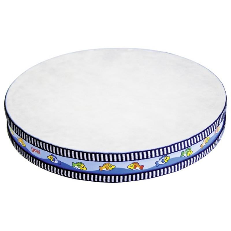 Tamburina Sunetul Oceanului Goki, 25.5 cm, lemn/piele naturala, 3 ani+ 2021 shopu.ro