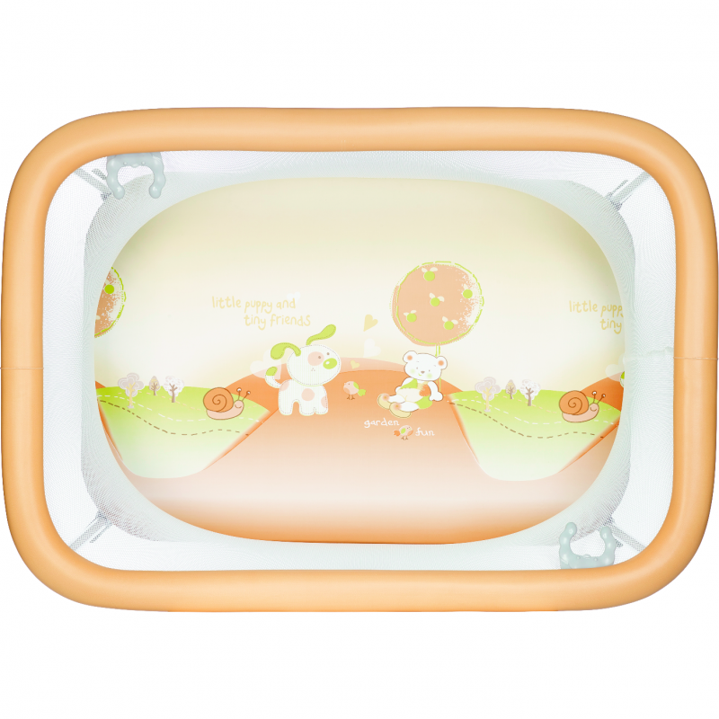 Tarc de joaca Comodo Plebani, compact, portocaliu imagine